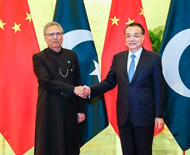 李克强会见巴基斯坦总统阿尔维